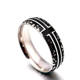 ラウンドリング ブラッククロス(リング(指輪))