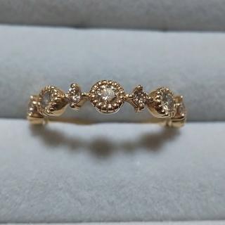 りんこん様専用ページ ライトブラウンダイヤモンド リング 18金(リング(指輪))