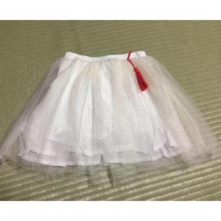 プチジャム(Petit jam)の【未使用】シューラルー キラキラチュールスカート 90㎝(スカート)