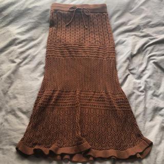シマムラ(しまむら)のニットスカート(ひざ丈スカート)