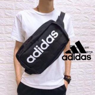 adidas - 新品‼️ アディダス ボディバッグ リニアロゴ サイドバッグ ブラック