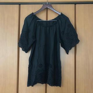 ハグオーワー(Hug O War)のハグオーワー cloth & cross  黒チュニック (チュニック)
