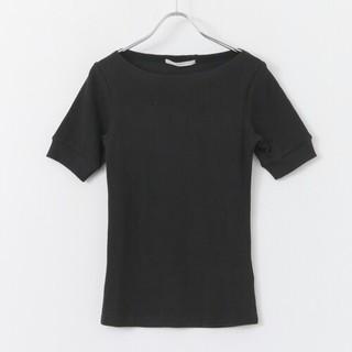 ケービーエフ(KBF)のKBF RIBボートネックTEE ブラック(Tシャツ(半袖/袖なし))