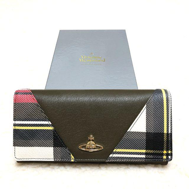 Vivienne Westwood(ヴィヴィアンウエストウッド)の新品☆Vivienne Westwood タータンチェック切替 長財布 白系 レディースのファッション小物(財布)の商品写真