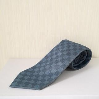 ルイヴィトン(LOUIS VUITTON)の極美品 LOUIS VUITTON ダミエ イタリア製 ネクタイ 正規品(ネクタイ)