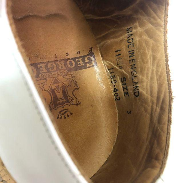 GEORGE COX(ジョージコックス)のジョージコックス シューズ ラバーソール 白 ホワイト イングランド製 21cm レディースの靴/シューズ(ローファー/革靴)の商品写真