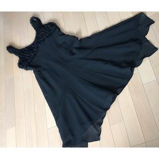 トゥモローランド(TOMORROWLAND)のprima attrice プリマアトリチェ ブラックドレス 未使用(ミディアムドレス)
