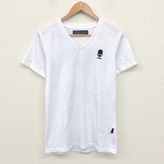 ロエン(Roen)の美品 Roen ローエン メンズファッション メンズTシャツサイズM 白Tシャ(Tシャツ/カットソー(半袖/袖なし))