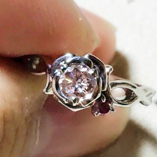 天然ピンクダイヤモンド FLOP 約0.3ct!! PT900 リング(リング(指輪))