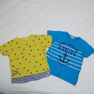 サンカンシオン(3can4on)のサンカンシオン男児Tシャツ2点セット  110cm(Tシャツ/カットソー)
