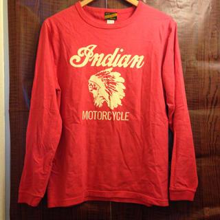 インディアン(Indian)のIndian Motorcycle ロンT M ピンク ロゴT(Tシャツ/カットソー(七分/長袖))