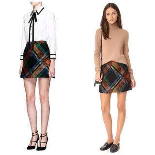 アリスアンドオリビア(Alice+Olivia)のalice+oliva チェック柄 スカート(ミニスカート)