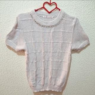 シマムラ(しまむら)のしまむら ビジュー付き ニット♥️L セーター INGNI 夢展望 H&M(カットソー(半袖/袖なし))
