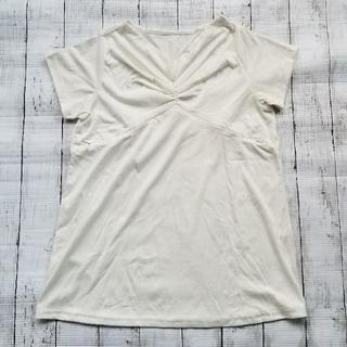 マタニティTシャツ 白 L