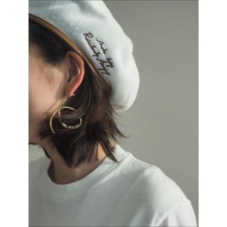 メゾンドリーファー(Maison de Reefur)のetre tokyo エトレトーキョー ラブマイベレー ホワイト パイピング(ハンチング/ベレー帽)