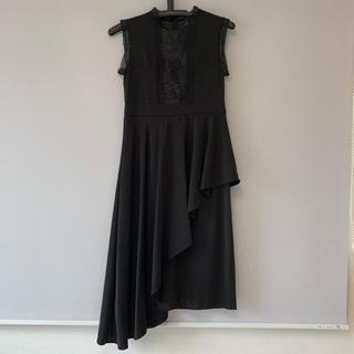 レディメイド(LADY MADE)のアシメスカートレイヤードドレス(ミディアムドレス)