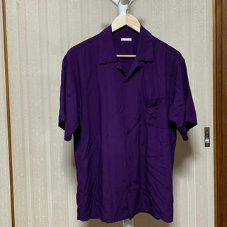 GU - GU   オープンカラーシャツ  半袖    パープル