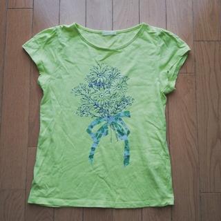 ジーユー(GU)の美品可愛い❤️GU 花柄T(Tシャツ/カットソー)