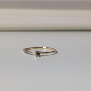 アッシュペーフランス(H.P.FRANCE)の【イロンデール】ブラックダイヤ リング(リング(指輪))