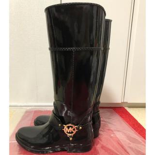 マイケルコース(Michael Kors)の★MICHAEL KORS★ レインブーツ&ロゴチャーム付きブーツインナー(レインブーツ/長靴)