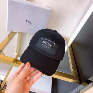 ディオール(Dior)のDIOR ディオールキャップ 黒 帽子(キャップ)