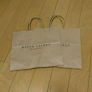 ラルフローレン(Ralph Lauren)の★RALPH LAUREN(ラルフローレン)紙袋2枚セット★(ショップ袋)