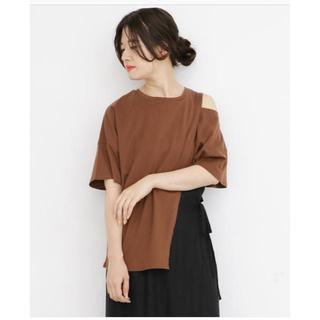 ケービーエフ(KBF)のオープンショルダーアシンメトリーTシャツ (Tシャツ(半袖/袖なし))
