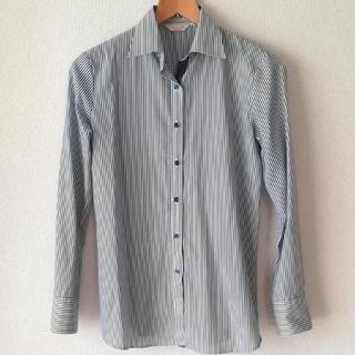 オリヒカ(ORIHICA)のオリヒカ ワイシャツ ストライプ ブルー×ホワイト(シャツ/ブラウス(長袖/七分))