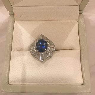 サファイアダイヤモンドリング(リング(指輪))