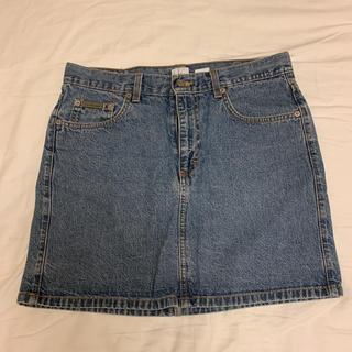 カルバンクライン(Calvin Klein)のカルバンクライン デニムタイトスカート ミニ Calvin Klein(ミニスカート)