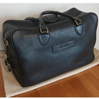 ガンゾ(GANZO)の美品中古 ガンゾ GANZO ボストンバッグ 7QS-H 黒 ストラップ付き(ボストンバッグ)