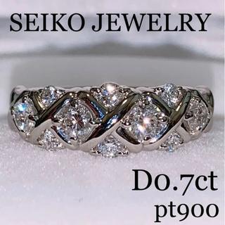 デビアス(DE BEERS)のセイコージュエリー pt900 スイート10 ダイヤモンドリング0.7ct 美品(リング(指輪))