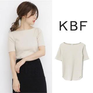 ケービーエフ(KBF)のKBF  illi RIBボートネックTシャツ(Tシャツ(半袖/袖なし))