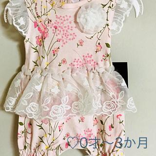 ローラアシュレイ(LAURA ASHLEY)のローラアシュレイ 女の子ベビー用ロンパース🌸日本未発売!(ロンパース)