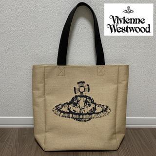Vivienne Westwood - Vivienne Westwood MAN トートバッグ 麻 ベージュ オーブ