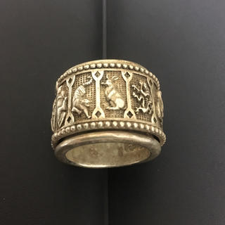 アンティーク 年代物 古銀 銀製 指輪 十二支 シルバー リング 一点物 干支(リング(指輪))