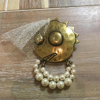 ツモリチサト(TSUMORI CHISATO)のTSUMORI CHISATO ◆ツモリチサト 可愛いスカル ブローチ 希少(ブローチ/コサージュ)