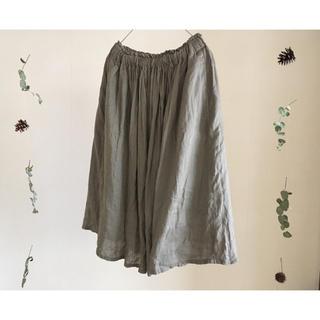 ムジルシリョウヒン(MUJI (無印良品))の無印 イージーギャザースカート フレンチリネン(ロングスカート)