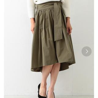 デミルクスビームス(Demi-Luxe BEAMS)の【新品】デミルクスビームス リボンギャザースカート IENA SHIPS(ひざ丈スカート)