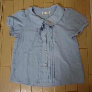 アンクルージュ(Ank Rouge)のAnk Rouge ブーケ💐 半袖ブラウス ブルー(シャツ/ブラウス(半袖/袖なし))
