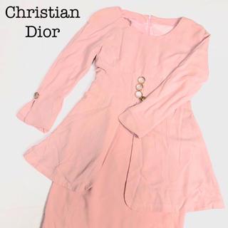 クリスチャンディオール(Christian Dior)のクリスチャンディオール セットアップワンピース 7号 ヴィンテージ(ひざ丈ワンピース)