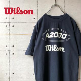 19b465429da45 ウィルソン(wilson)の【激レア】 美品 wilson ウィルソン センターロゴ T