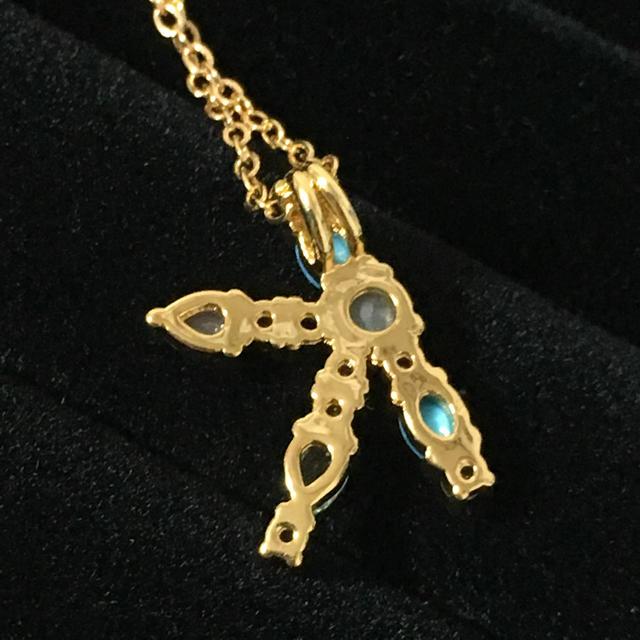 K マルチカラー イニシャルネックレス レディースのアクセサリー(ネックレス)の商品写真