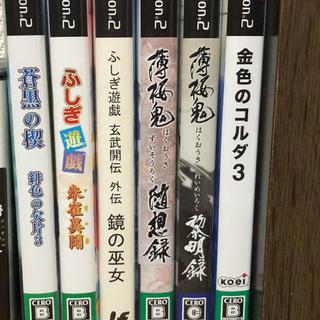 プレイステーション2(PlayStation2)の PlayStation 2 ソフト 蒼黒の楔、ふしぎ遊戯、薄桜鬼、金色のコルダ(家庭用ゲームソフト)