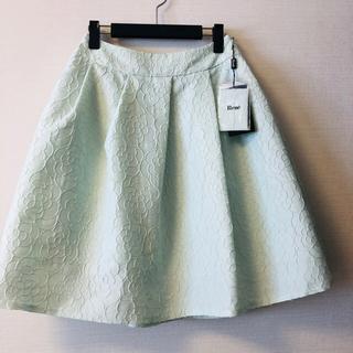 ルネ(René)のRene ルネ カメリア柄 パニエ内蔵ふんわりスカート (ひざ丈スカート)