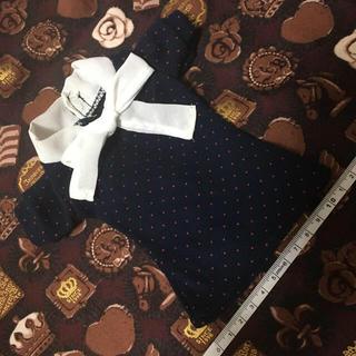 ボークス(VOLKS)の襟元リボン半袖ドット柄カットソー/スーパードルフィー/ボークス/SD/DD人形用(その他)