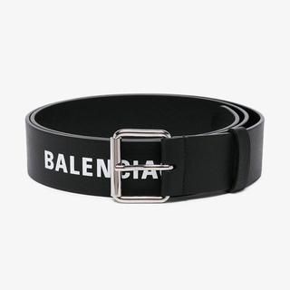 バレンシアガ(Balenciaga)のBalenciaga Black Logo Print Leather Belt(ベルト)