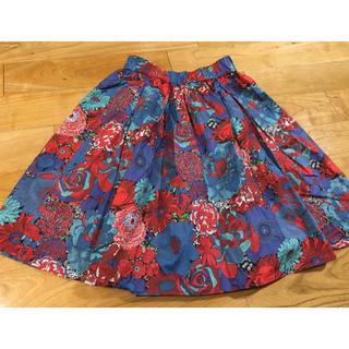 ドアーズ(DOORS / URBAN RESEARCH)のアーバンリサーチドアーズ リバティフラワーギャザースカート 花柄 ワンサイズ(ひざ丈スカート)