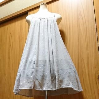 アロー(ARROW)の大きいサイズLL3L4L★スカート2way♪サラサラ軽い着ごごちキャミワンピース(ミニワンピース)