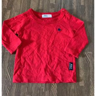 ポロラルフローレン(POLO RALPH LAUREN)の子供服 ロンT ラルフローレン POLO 70 赤色 男女兼用(Tシャツ)